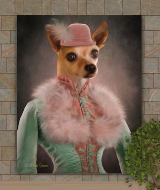 Lady Margaret Period Style Custom Pet Portrait Painting