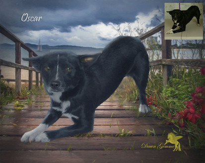 Ocean Breezes Bridge Custom Pet Portrait Painting