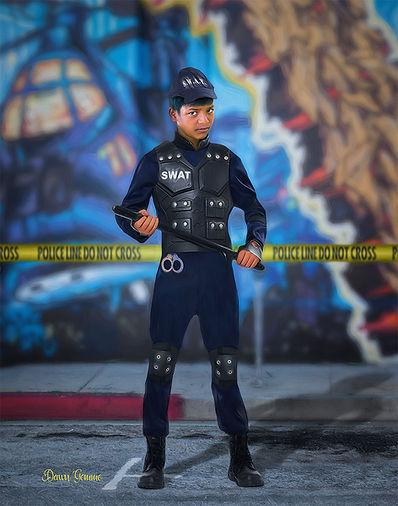 Swat Officer Custom Child Fantasy Portrait