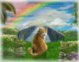 Sky Rainbow Bridge Pet Memorial Digital