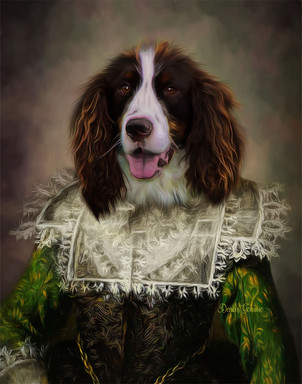 Duchess Alice Period Style Custom Pet Portrait Painting