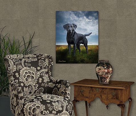 Seaside Custom Pet Oil Portrait Painting