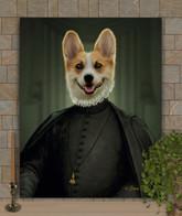 Duke Ebenezer Period Style Custom Pet Portrait Painting