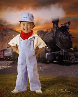 Locomotive Engineer Fantasy Child Portra