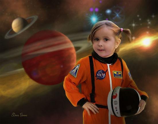 Astronaut Custom Child Fairytale Portrai