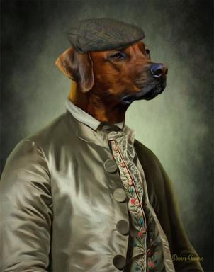 The Gentleman Period Style Custom Pet Portrait Painting