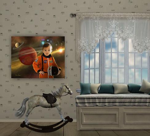 Astronaut Custom Child Fantasy Portrait