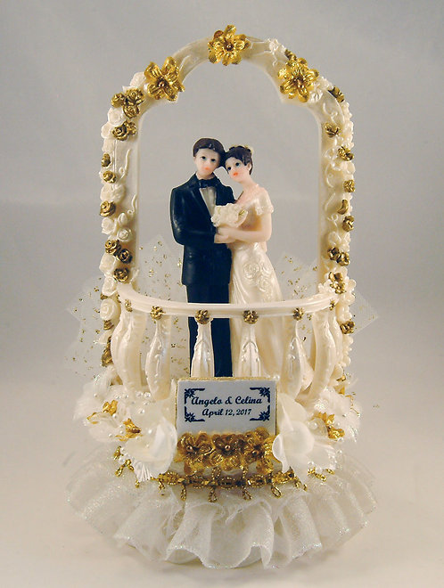 Moonlight Balcony Customized Wedding Cake Topper