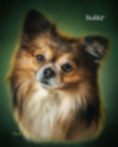 Emerald Halo Custom Pet Portrait Paintin