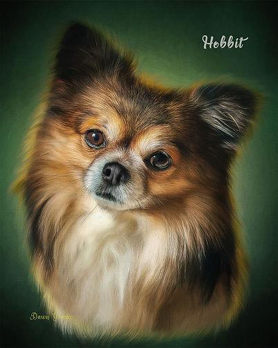 Emerald Halo Custom Pet Portrait Paintin
