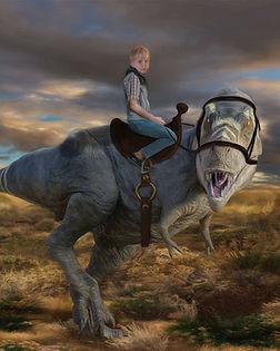 Boy Riding Dinosaur Custom Artwork_edite