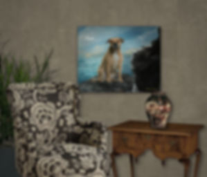 Rocky Ridge Custom Pet Portrait Painting