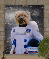 Astronaut Dog - Cat Custom Portrait Pain