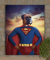 Superman Custom Dog - Cat - Pet Portrait Painting