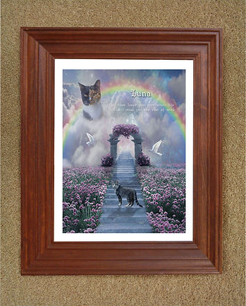 Personalized Rainbow Stairs Dog Cat Memo