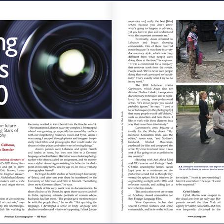 American Cinematographer's 'Rising Stars of Cinematography'