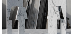 piùOmeno Led marble lamp