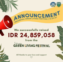 Green Living Festival Donation Collected