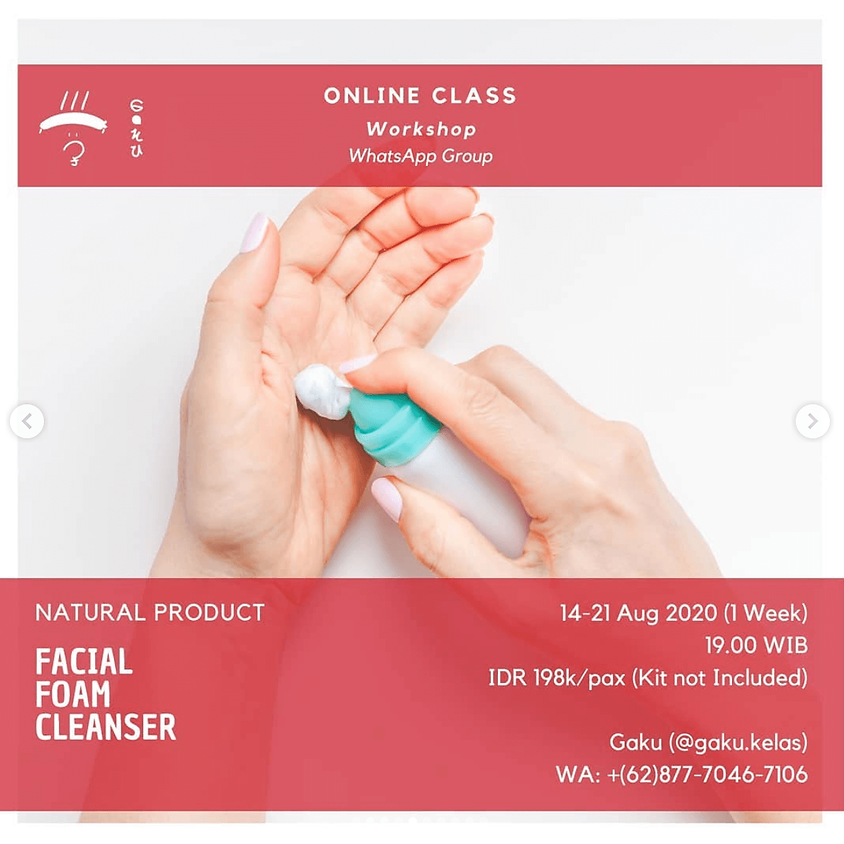 Natural Product: Facial Foam Cleanser
