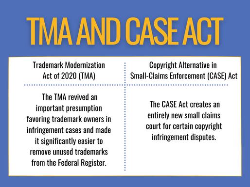 Two Important Changes to Trademark and Copyright Laws: