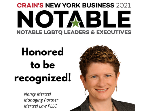 Nancy Mertzel is Recognized in Crain's NY Business 2021 Notables.