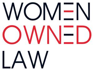 Women Owned Law logo.