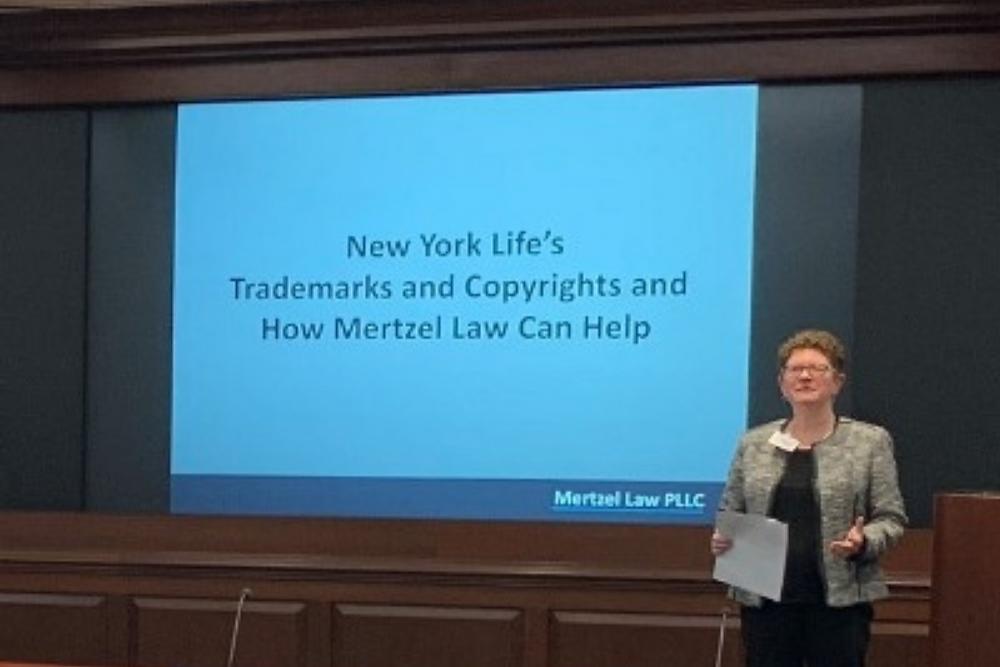 Nancy presenting to New York Life Insurance