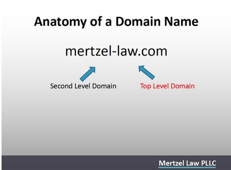 Nancy Mertzel Presents on Trademarks and Domain Names