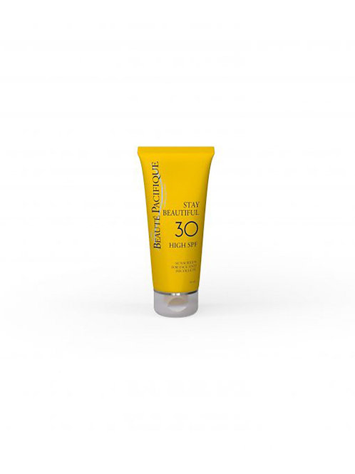 STAY BEAUTIFUL – SPF 30 (Protector solar cara y escote)