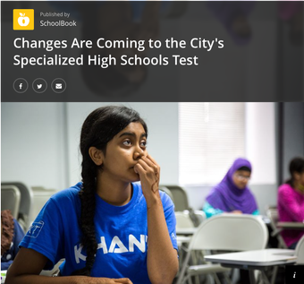 Changes Are Coming to the City's Specialized High Schools Test