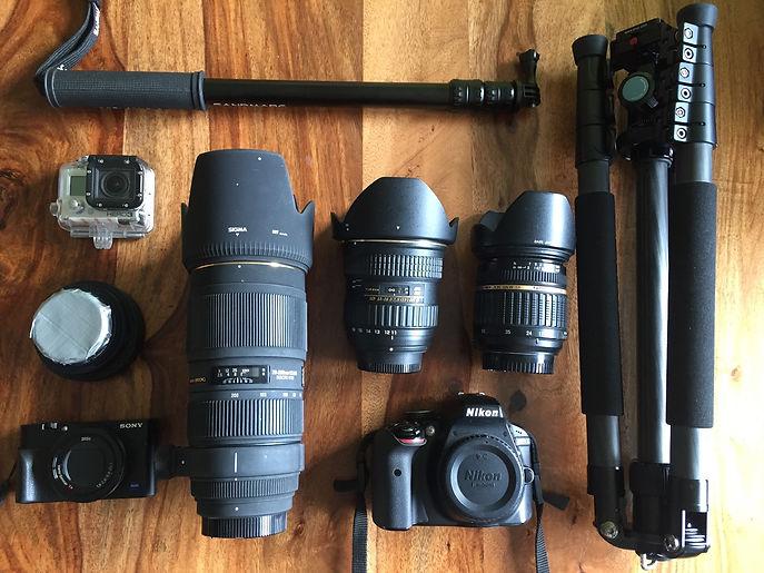 Weltreise Kameraausrüstung