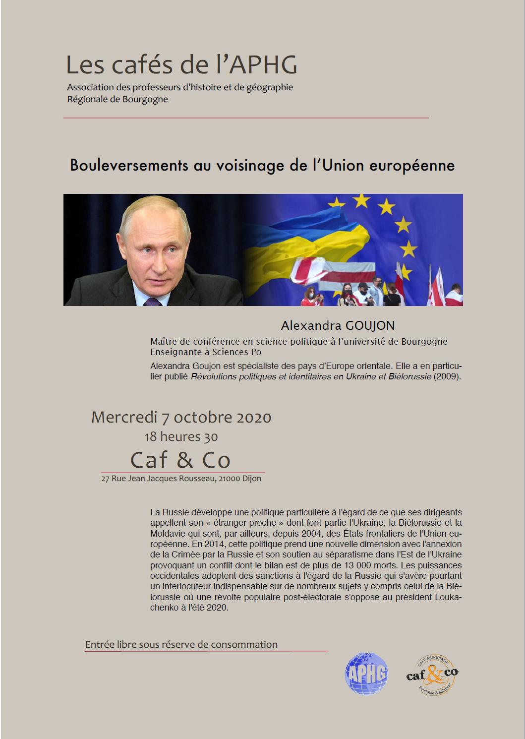 Café Histoire-Géographie du 7 octobre 2020