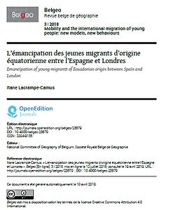 Publication Itane - Belgeo