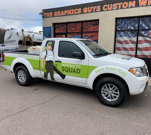 Partial Wrap on Mosquito Squad Truck Fleet