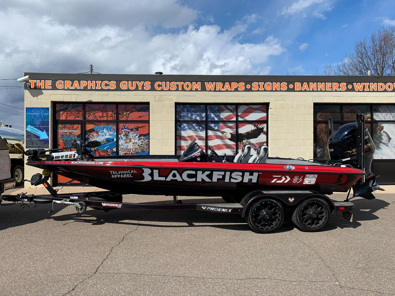Full Blackfish Boat Wrap