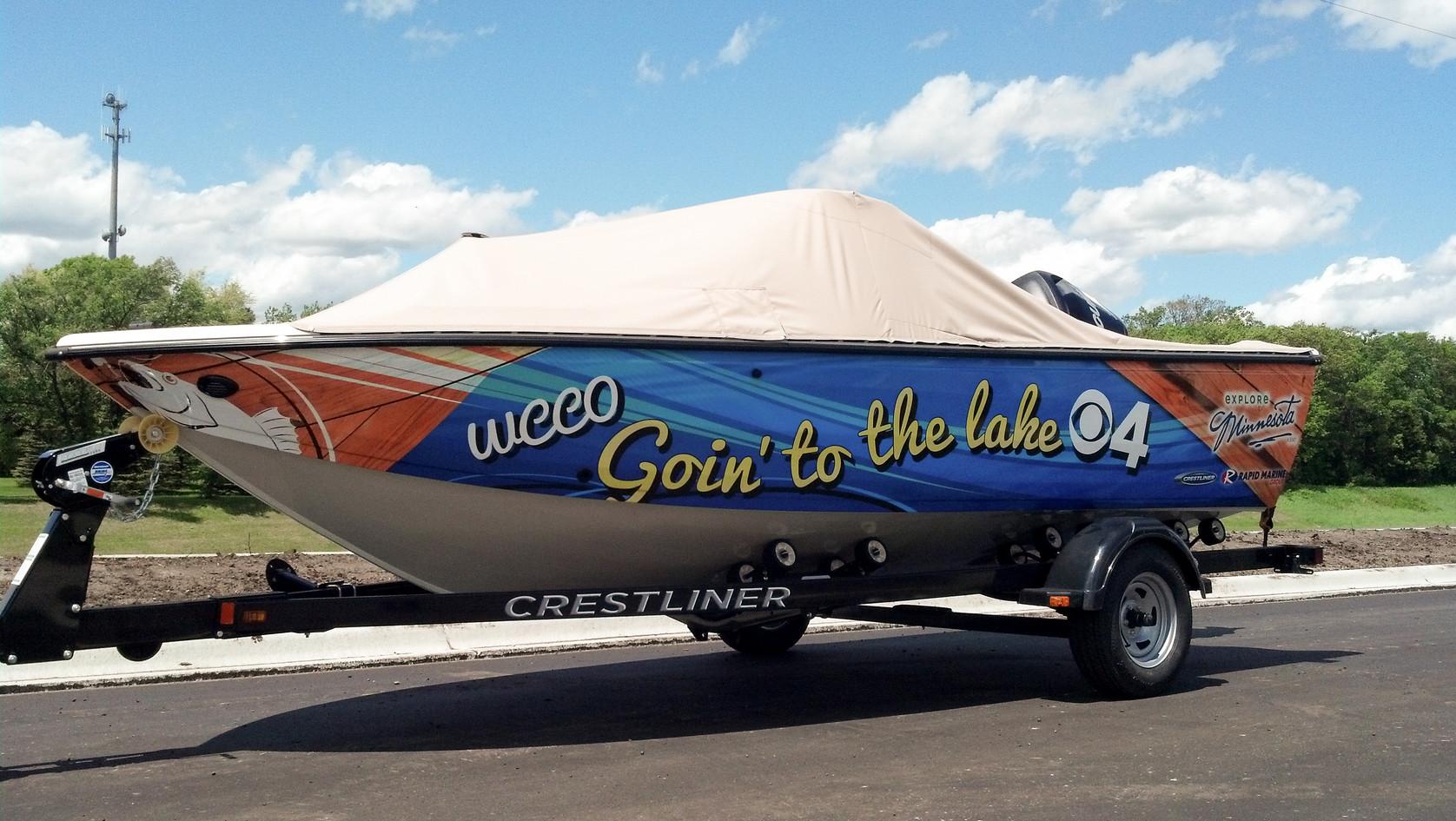 Full WCCO Boat Wrap