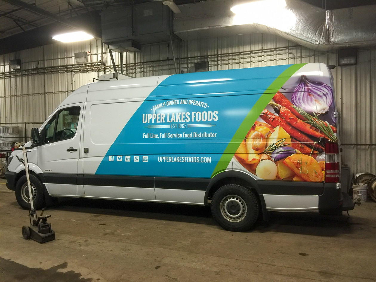 Partial Upper Lakes Foods Van Wrap