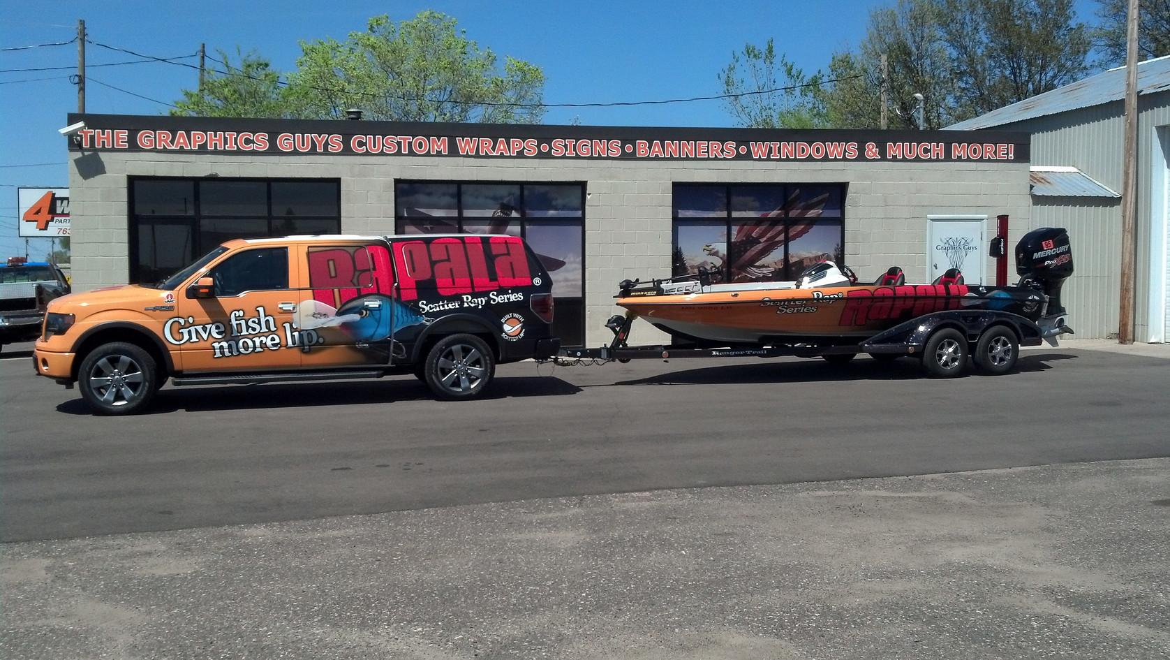 Full Rapala Truck & Boat Wrap