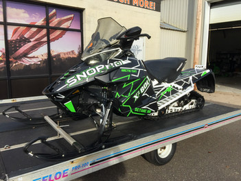 Graphic Kit Snowmobile Installation