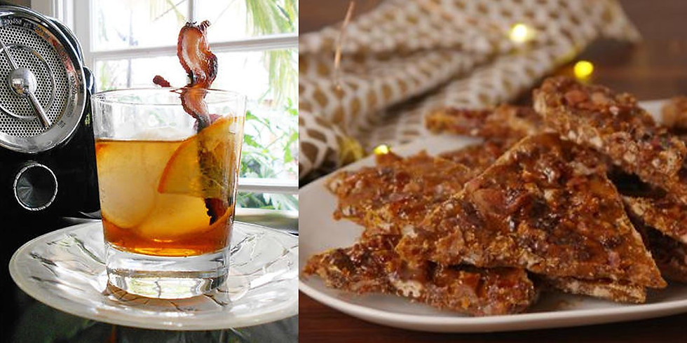 Whiskey Night- Maple Bacon Old Fashioned and Bourbon Brittle