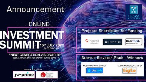 FINCASA VENTURES announces Global Online Investment Summit.