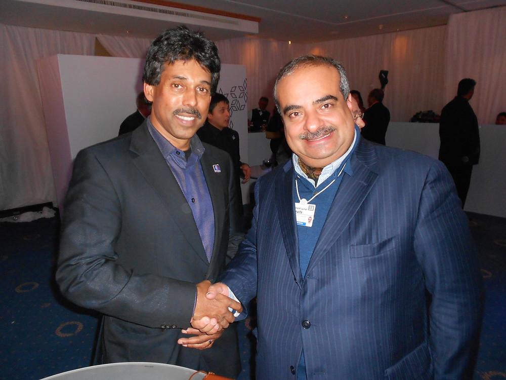 H.H. Sheikh Salman bin Khalifa Al Khalifa & Guna Mahalingam