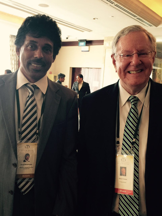 Guna Mahalingam & Steve Forbes