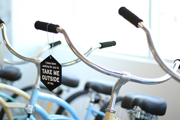Free cruiser bikes to borrow before or after your appointment.