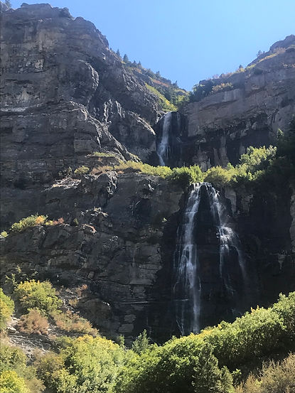 Picture of Bridal Veil Falls in Provo Canyon.