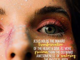 Holiness Over Healing: What Jesus Really Came to Do