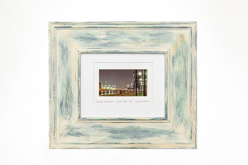 "Emirates Royal Docks  6""x 4"" in a handmade frame"