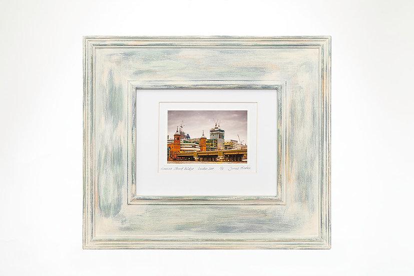 "Cannon Street Bridge  6""x 4"" in a handmade frame"