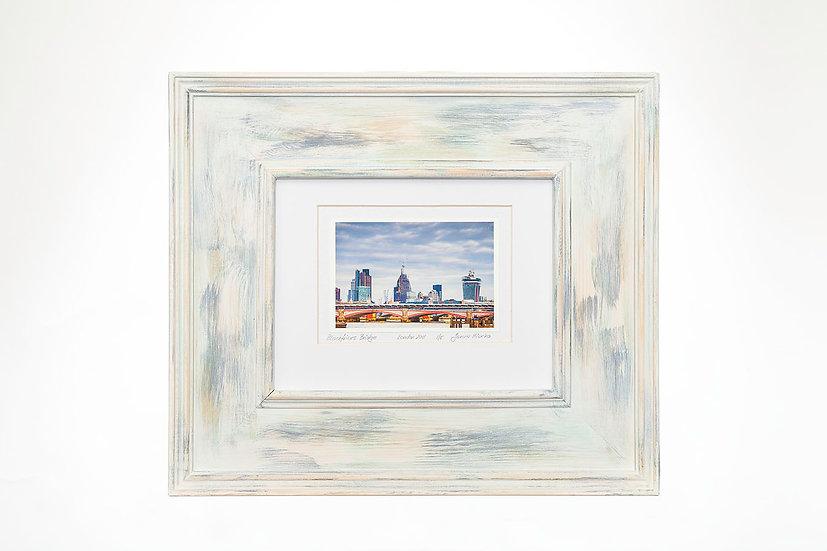 """Blackfriars Bridge  6""""x 4"""" in a handmade frame"""