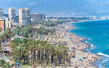 Beach-of-Bajondillo-in-Torremolinos-Mala
